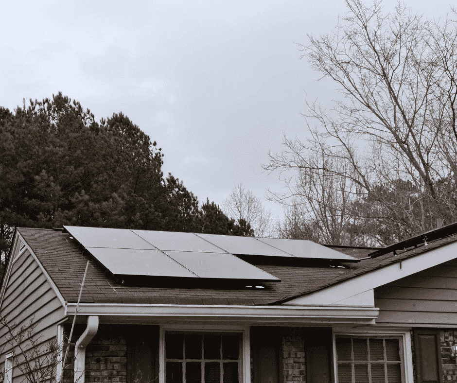 Tesla Solar Panels on South Facing Roof